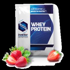 Inventor Nutrition Whey Protein Concentrate fehérje italpor - eper (30 g)