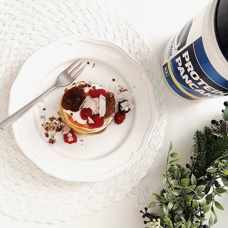 Mennyei fehérjepalacsinta Profiber Protein pancake palacsintaporból