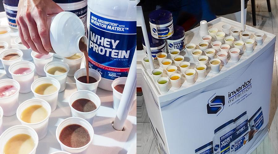 Inventor Nutrition kóstoltatás a Fitness5 termekben: szó szerint színes kínálattal