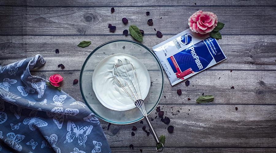 Epres panna cotta pohárdesszert is finomabb az Inventor Nutrition profiberrel